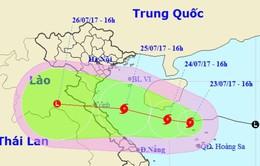 Yêu cầu tàu thuyền không di chuyển vào khu vực nguy hiểm của bão số 4