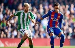 Vòng 20 La Liga: Bị Real Betis cầm chân, Barca lỡ cơ hội chiếm ngôi đầu