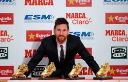 Nhận Chiếc giày vàng, Messi từ chối nói về tương lai tại Barca