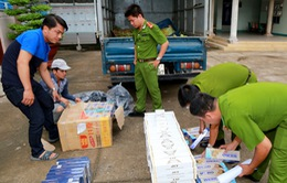 Quảng Ngãi: Truy bắt ô tô chở số lượng lớn thuốc lá lậu