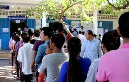 Cử tri Campuchia bỏ phiếu bầu Hội đồng xã, phường