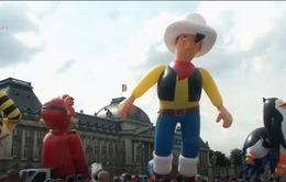 Độc đáo lễ diễu hành khinh khí cầu hình dáng nhân vật hoạt hình