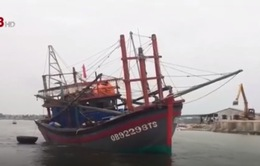 Cửa biển bồi lấp khiến nhiều tàu cá gặp khó khăn