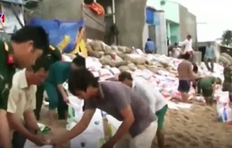 Xói lở bờ biển uy hiếp các hộ dân huyện Tuy Phong, Bình Thuận