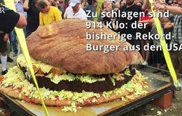 Chiếc bánh hamburger nặng hơn 1.5 tấn lập kỷ lục thế giới