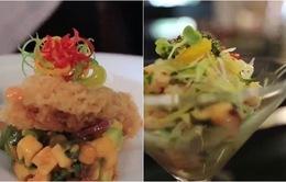 Đổi vị với salad cá hồi và salad cá vược hoa quả nhiệt đới