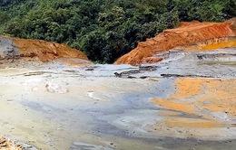 Đập chứa bùn thải tại Xí nghiệp thiếc Suối Bắc không đảm bảo an toàn