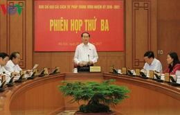 Phiên họp thứ 3 Ban Chỉ đạo Cải cách Tư pháp Trung ương