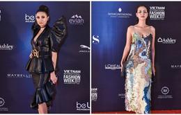 Võ Hoàng Yến quyền lực với đầm đen, Maya hóa thân thành nàng tiên cá trên thảm đỏ Tuần lễ thời trang quốc tế Việt Nam Thu - Đông 2017