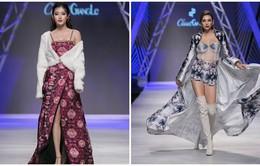 Á hậu Huyền My, siêu mẫu Võ Hoàng Yến đọ vẻ kiêu kỳ trên sàn catwalk