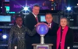 Tổng Thư ký Liên Hợp Quốc đón năm mới tại Quảng trường Thời đại