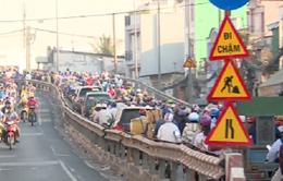 Tình hình giao thông tại cầu Nhị Thiên Đường 2 đã ổn định