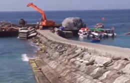 Cầu cảng đảo Bé được nâng cấp, sửa chữa