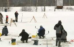Cuộc thi câu cá trên băng tại Nga