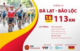 Lộ trình chặng 13 giải xe đạp quốc tế VTV Cúp Tôn Hoa Sen 2017