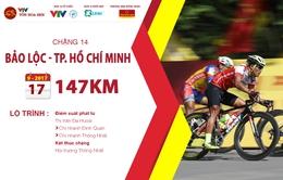 Lộ trình chặng 14 giải xe đạp quốc tế VTV Cúp Tôn Hoa Sen 2017