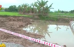 Đã tìm thấy thi thể hai bé trai đuối nước tại công trình thi công QL56