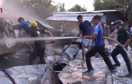 Kiên Giang: Cháy bãi tập kết vật tư, thiệt hại gần 1 tỷ đồng