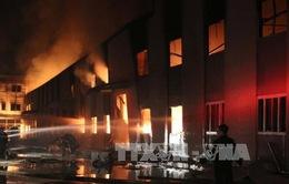 Cháy tại cụm công nghiệp Đồng Lạng, Phú Thọ