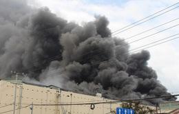 250 người, hơn 30 xe chữa cháy tham gia dập lửa tại Công ty Kwong Lung - Meko