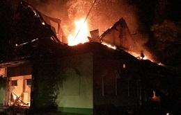 Hà Tĩnh: Cháy lớn tại quán karaoke Đồi Sim trong đêm