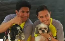 Độc đáo cuộc thi chạy cùng thú cưng tại Philippines