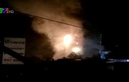 Hai cháu nhỏ thiệt mạng trong vụ cháy cửa hàng lốp ô tô