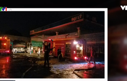 Cháy cây xăng do hàn xì, 6 người bị bỏng