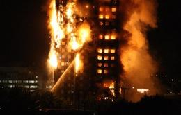 Tòa nhà 24 tầng tại Lon don bốc cháy dữ dội