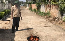 Hàng loạt giếng nước bốc cháy ngùn ngụt tại Đăk Lăk