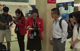 Check-in di động sử dụng Internet không dây tại sân bay