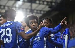 Wilian đá phạt thành bàn, Chelsea đại thắng ở vòng 4 FA Cup