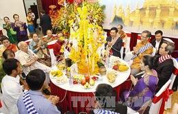 Sinh viên Lào tại Việt Nam mừng Tết cổ truyền