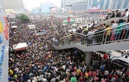 Áp lực giao thông trong dịp nghỉ lễ 1/5 tại Trung Quốc