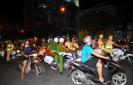 Diễn tập chống đua xe trong đêm trên Quốc lộ ở TP.HCM
