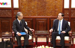 Chủ tịch nước tiếp Chủ tịch kiêm TBT hãng thông tấn Kyodo News