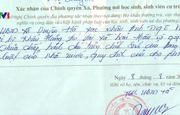Chủ tịch xã ở Hà Nội xin lỗi vì phê bình trong lý lịch tân sinh viên