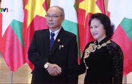 Chủ tịch Quốc hội Nguyễn Thị Kim Ngân hội đàm với Chủ tịch Quốc hội Myanmar