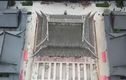 Dịch chuyển ngôi chùa hơn 2.000 tấn tại Trung Quốc