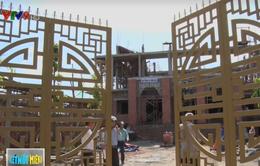 Tiền Giang: Sập sàn khi đổ bê tông xây chùa, 8 công nhân bị thương