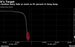 Hãng sữa Trung Quốc mất hơn 4 tỷ USD một ngày
