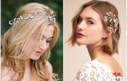 Phụ kiện cài tóc giúp cô dâu thêm tỏa sáng trong ngày cưới
