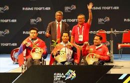 Ngày 18/9, bơi và cử tạ mang vàng về cho đoàn thể thao NKT Việt Nam tại ASEAN Para Games 9
