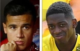 Barcelona chốt 2 thương vụ Coutinho và Dembele