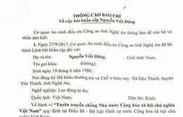 Nghệ An : Bắt đối tượng có hành vì tuyên truyền chống nhà nước