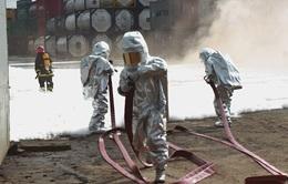 Diễn tập chữa cháy, xử lý sự cố rò rỉ hóa chất tại TP.HCM