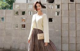 Gợi ý phổi đồ len đẹp chuẩn phong cách Hàn Quốc