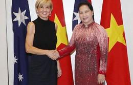 Chủ tịch Quốc hội gặp Bộ trưởng Bộ Ngoại giao Australia