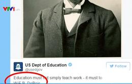 Bộ Giáo dục Mỹ bị chỉ trích vì sai chính tả