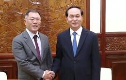 Chủ tịch nước tiếp Phó Chủ tịch tập đoàn Hyundai